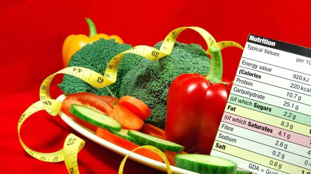 Personalisierte Ernährung - Gemüse und Lebensmitteltabelle
